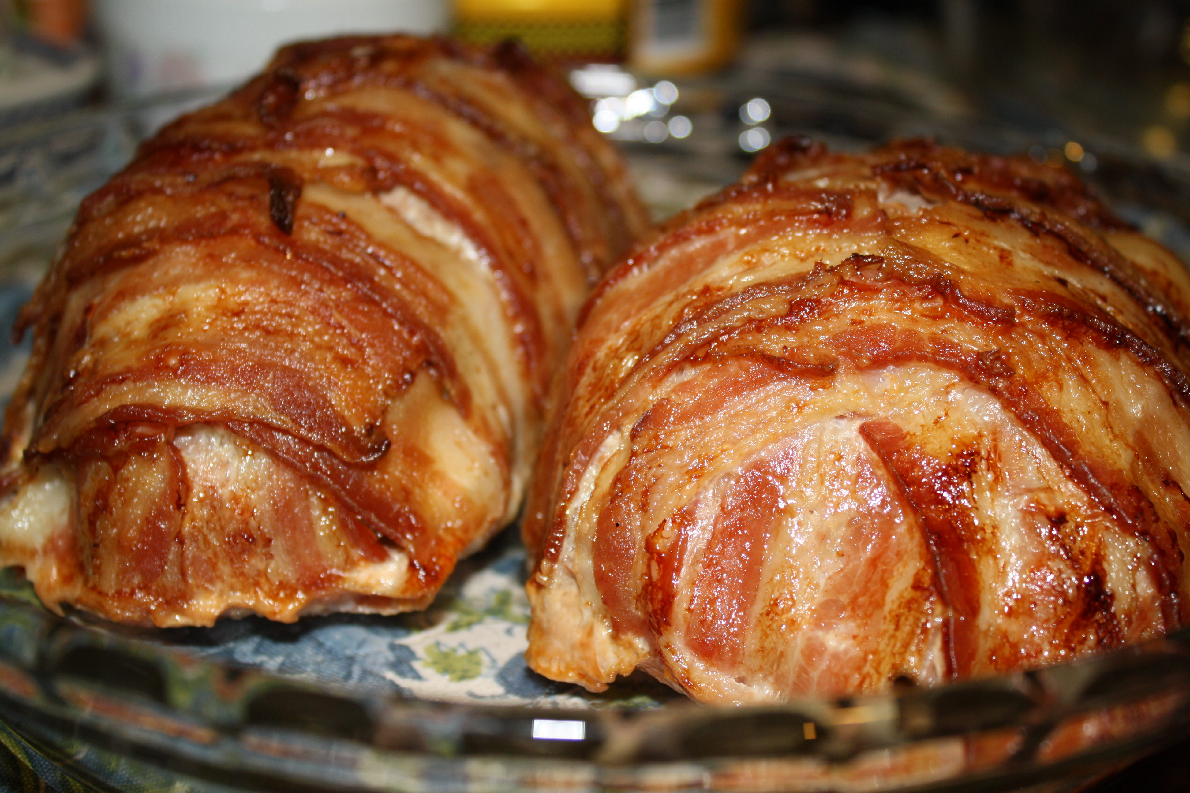 The bacon wrapped meatloaf was delicious! The bacon added just the ...